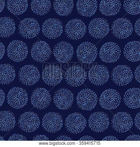 Spotty Circular Vector Repeat Pattern. Circle Dot Seamless Pattern, Perfect For Fashion, Home, Stati