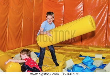 Boys Fight  In The Children's Playroom