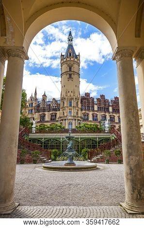 Schwerin, Germany - June 24, 2014: Schwerin Castle (schwerin Palace) (german: Schweriner Schloss) In