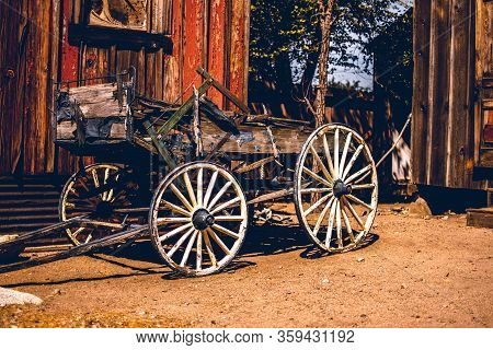 Old Wagon Ghost Town Californian. High Quality Vintage Look.