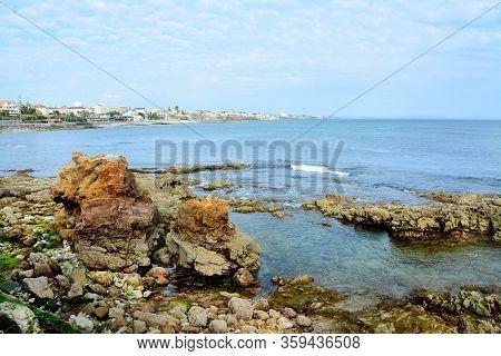 Beautiful beach and sea, Cascais in Portugal