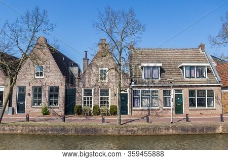 Old Houses At The Canal In The Center Of Meppel, Netherlands