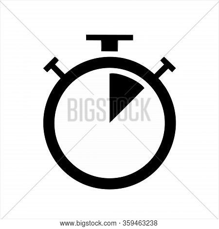 Clock Logo Icon Isolated. Watch Object, Time Office Symbol. Clock Flat Icon. Time Logo. Watch Logo.