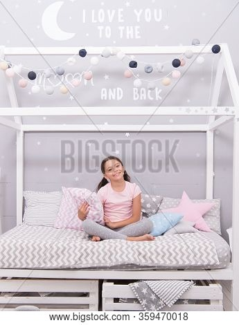 Good Morning. Sweet Dreams. Fashion Pajamas. My Bedroom My Rules. Cute Cozy Bedroom For Small Girl.