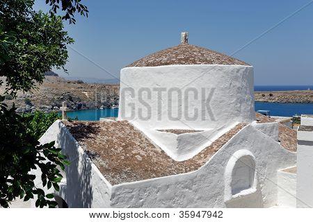 The Church Of Panagia, Lindos, Rhodes, Greece
