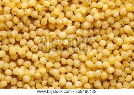 Millet Close-up In Full Frame. Layout For Grocery Departments, Packaging For Millet Producers. Food