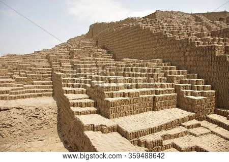 Huaca Pucllana  Is A Great Adobe And Clay Pyramid Located In The Miraflores District Of Central Lima
