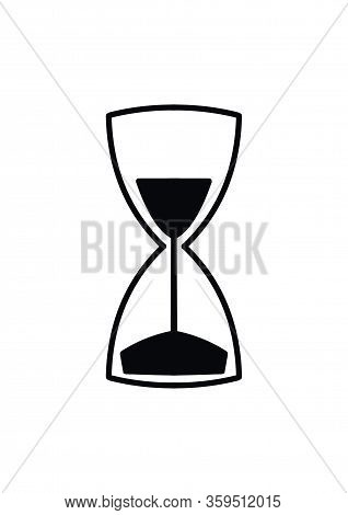 Hourglass Sign. Symbol Of Time And Transience Of Life. Time For Life. World Leisure Day.