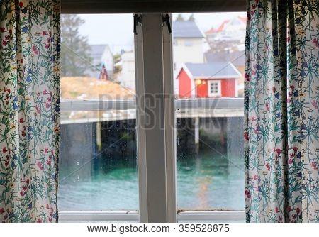 Traditional fishermen cabins in Lofoten Archipelago, Norway, Europe