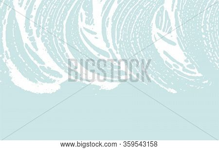 Grunge Texture. Distress Blue Rough Trace. Dazzling Background. Noise Dirty Grunge Texture. Stylish