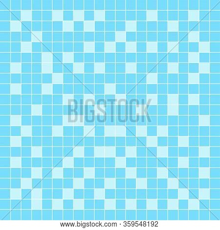 Tile Mosaic Light Blue Pattern For Square Wall Background, Modern Square Mosaic Grid Pattern For Dec