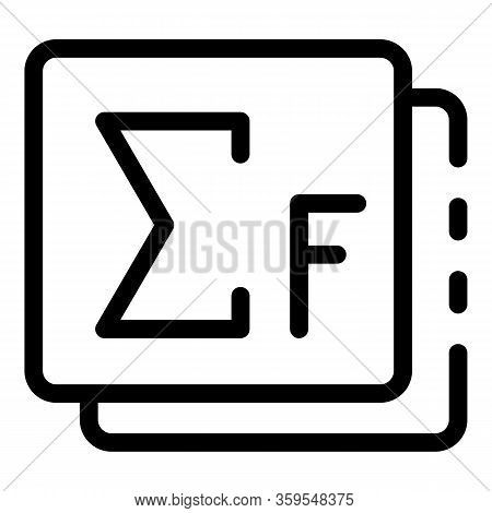 Newtons Icon. Outline Newtons Vector Icon For Web Design Isolated On White Background