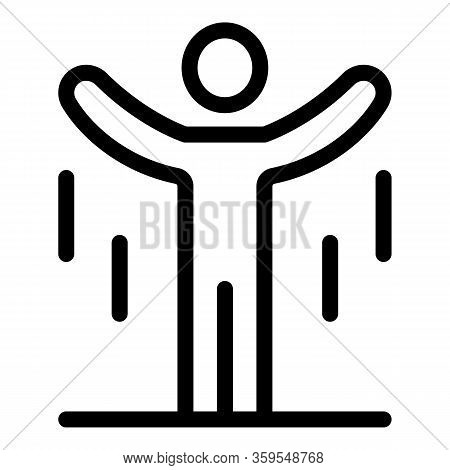 Man Gravity Jump Icon. Outline Man Gravity Jump Vector Icon For Web Design Isolated On White Backgro