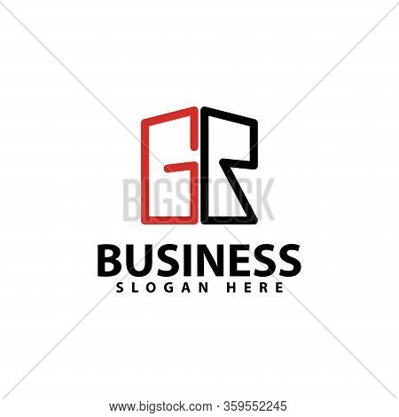 Letter G, R Logo Template Design Vector Icon Illustration