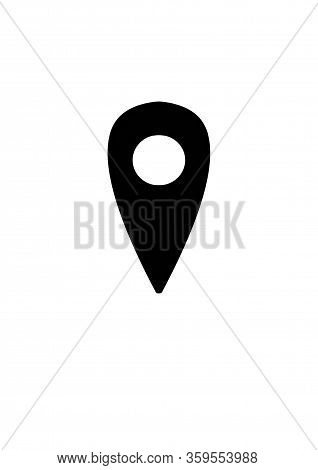 Location Symbol And Mark On The Map Icon.a Sign Of A Route. An Illustration Of Gps Navigation And Co