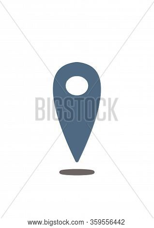 Mark Icon. Location Icon. Illustration On The Theme Of Signs And Symbols.