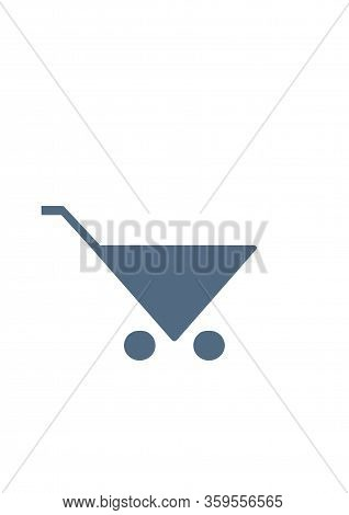 Shopping Cart Icon, Illustration Flat Design Style
