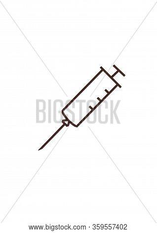 Syringe Icon. Illustration On A Medical Theme. World Health Day. Vaccination.