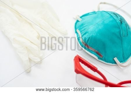 Ppe Personal Protective Equipment With Protec Coronavirus Or Covid-19 Virus.