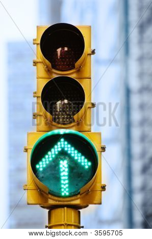 Green Arrow Traffic Light