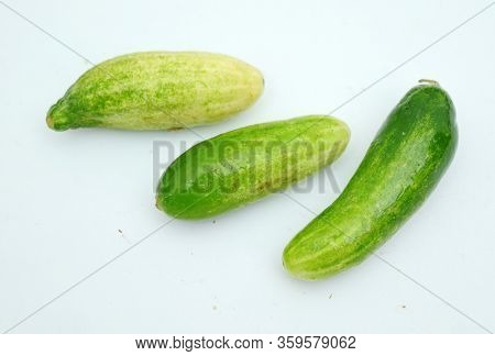 Cucumber - Close Up Cucumber Detail, Cucumber On The Market, Cucumber Isolated With A White Backgrou
