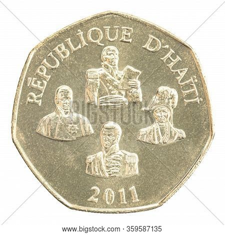 Haitian Five Gourdes With The Image Of National Heroes Tonsaint Louverture, Henri Christophe, Jean J