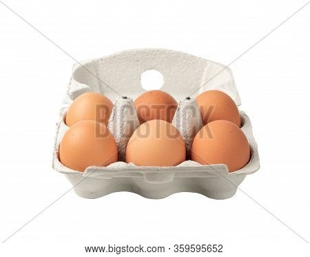 Egg Box With Chicken Eggs, Carton Pack Or Egg Container