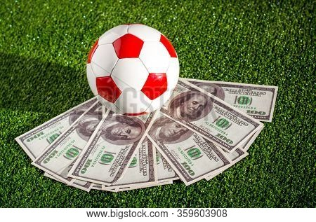 Money In Sports, Football Match Fixing And Betting On The Outcome Of Sporting Event Conceptual Idea