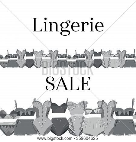 Seamless Border Female Lingerie Collection.
