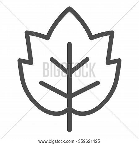 Grape Leaf Line Icon. Wine Leaf Emblem Or Logo Outline Style Pictogram On White Background. Winery A