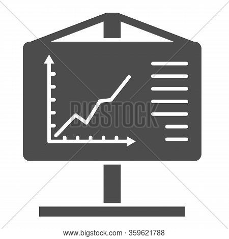 Flipchart Solid Icon. Visual Aid Presentation And Chart Board Symbol, Glyph Style Pictogram On White