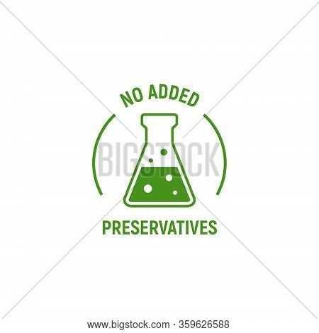 No Added Preservatives Icon. Chemical Artificial Free Food. No Additives Vector Symbol Logo