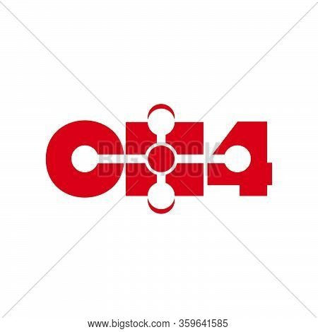 Ch4 Methane Logo Wordmark Template Ready To Use