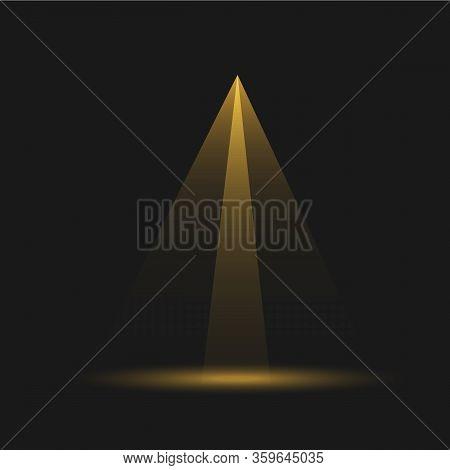Set Of Spotlight Isolated On Transparent Background.floodlight Beam,illuminated Spotlights For Web D