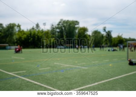 Training Of Young Footballers Defocused Close Up