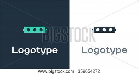 Logotype Silicone Ball Gag With A Leather Belt Icon Isolated On White Background. Fetish Accessory.
