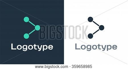 Logotype Share Icon Isolated On White Background. Share, Sharing, Communication Pictogram, Social Me