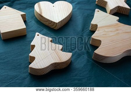 Detail For Woodwork. Joinery. New Year Wooden Products. Workshop, Development Of Wood Products. Wood