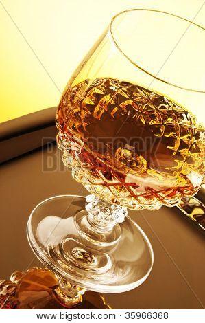 Whiskey In Stem Glass