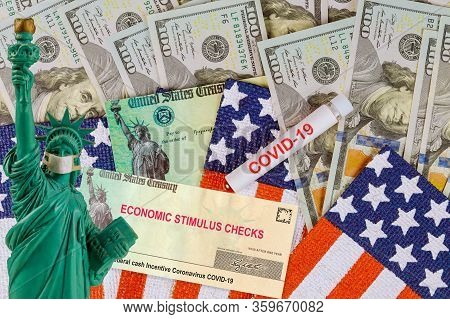 Federal Stimulus Relief Program Individual Checks Virus Economic Stimulus Plan Usa Dollar Cash Bankn