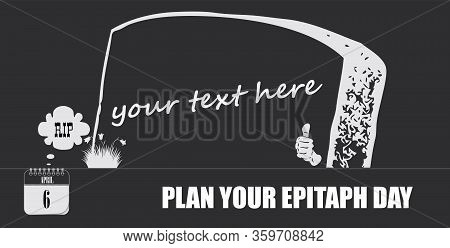 Post Card For Event April Day Plan Your Epitaph Day