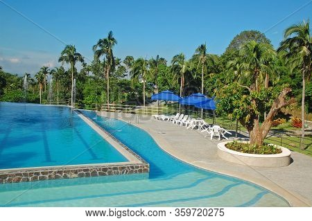 Batangas, Ph - July 30: Swimming Pool At Ccf Mount Makiling Recreation Center On July 30, 2019 In Sa