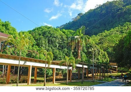 Batangas, Ph - July 30: Lodging House Facade At Ccf Mount Makiling Recreation Center On July 30, 201