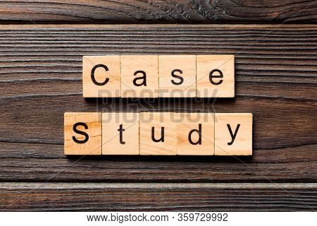 Case Study Word Written On Wood Block. Case Study Text On Table, Concept