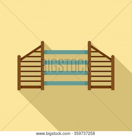 Dog Training Barrier Icon. Flat Illustration Of Dog Training Barrier Vector Icon For Web Design