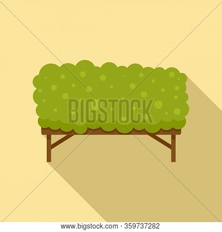 Dog Training Grass Barrier Icon. Flat Illustration Of Dog Training Grass Barrier Vector Icon For Web
