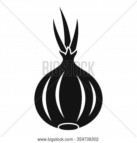 Onion Icon. Simple Illustration Of Onion Vector Icon For Web Design Isolated On White Background