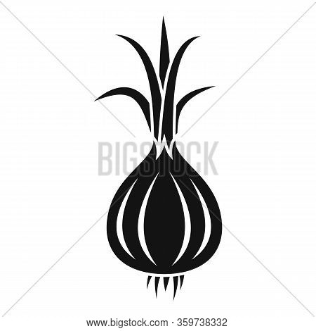 Raw Onion Icon. Simple Illustration Of Raw Onion Vector Icon For Web Design Isolated On White Backgr