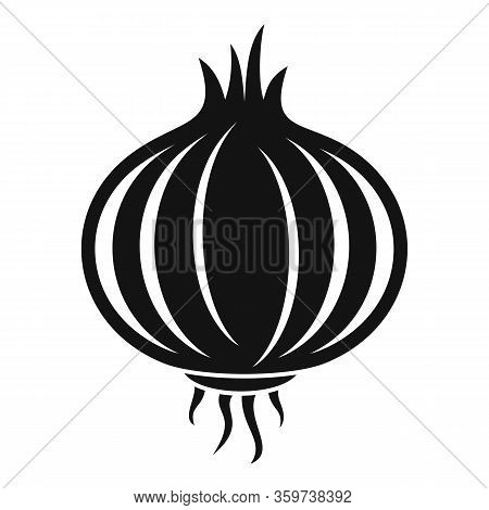 Onion Bulb Icon. Simple Illustration Of Onion Bulb Vector Icon For Web Design Isolated On White Back