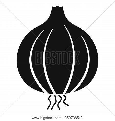 Farm Onion Icon. Simple Illustration Of Farm Onion Vector Icon For Web Design Isolated On White Back